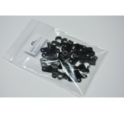 Cable Management Clips Black Mixed - 40 Pack