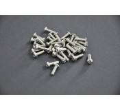 Silver Screws M3 x 10 - pack of 50