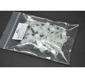 Cable Management Clips White Mixed - 40 Pack