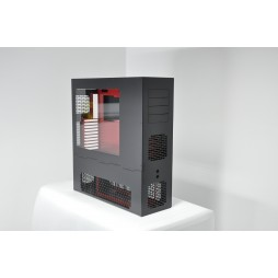 LD PC-V8 ATX/HPTX Black/Red XL Window