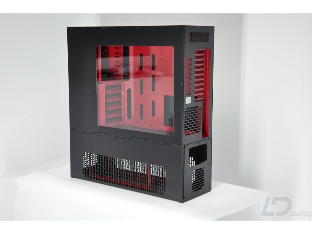 Ld Pc V8 Reverse Atx Hptx Black Red Xl Window Ld Cooling