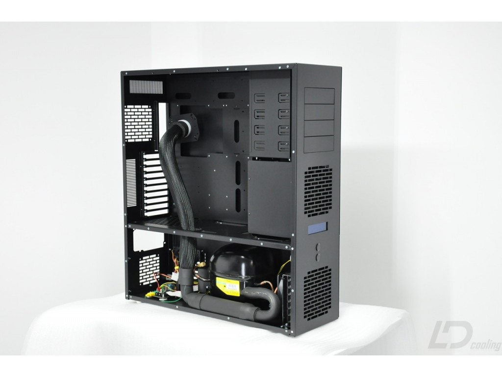 Ld Pc V10 Phase Change Black Ld Cooling Computer Cases